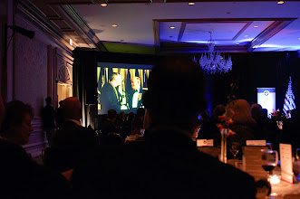 Photo: One of the highlights of the evening was a video that paid tribute to Gen. Sullivan's 50-years of service to Soldiers, the Army and the Nation.