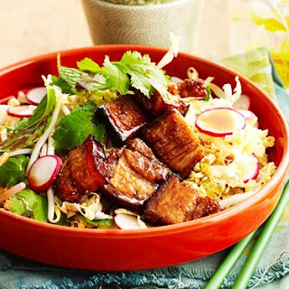 Twice-cooked Sticky Pork Belly Salad
