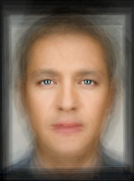 Photo: A selection of portraits by Martin Schoeller, mean averaged.