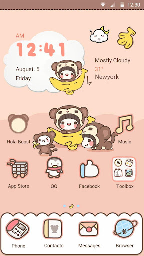 Monkey Dress Up- Hola Theme
