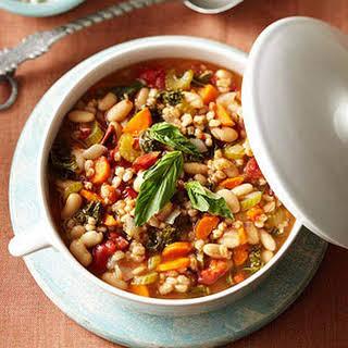 Mediterranean Kale & Cannellini Stew with Farro.