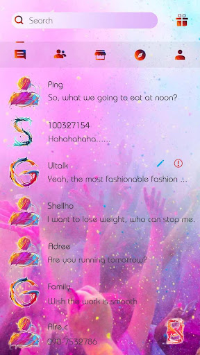 (FREE) GO SMS COLOR 2 THEME screenshots 2