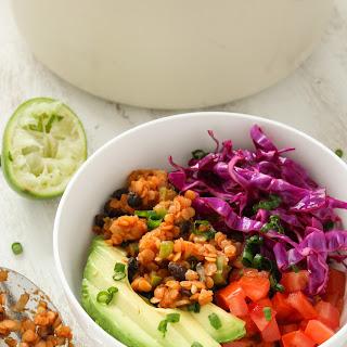 Vegan Lentil Taco Salad Bowls.