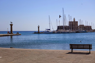 Photo: Did the colassus of Rhodes straddle this harbor entrance?