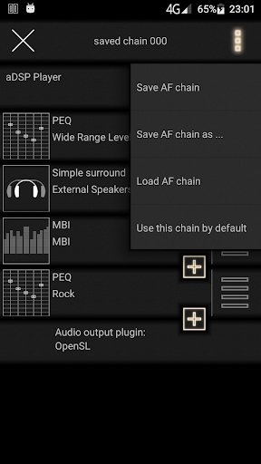 music player with parametric equalizer & surround 0.18.0.3 screenshots 2