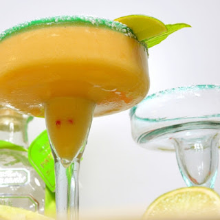 Necatarine-Basil Margaritas