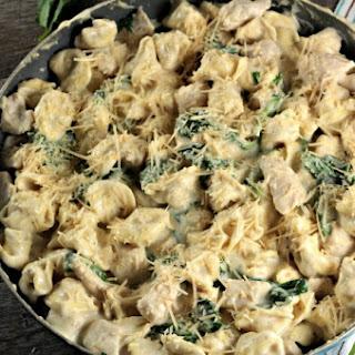 Chicken Spinach Tortellini Alfredo.