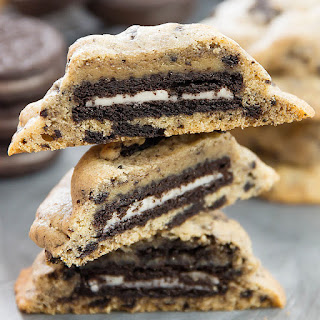 Oreo Stuffed Cookies and Cream Cookies.