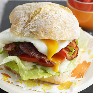 Bacon, Egg and Tomato Sandwiches.