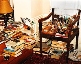 Photo: the famously messy interior of handke's domicile [s]