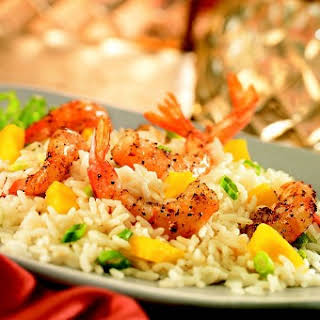 Indian-Spiced Shrimp on Coconut-Pineapple Rice.