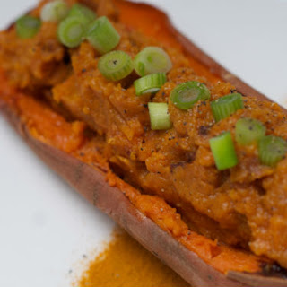 Twice Baked Curried Sweet Potato