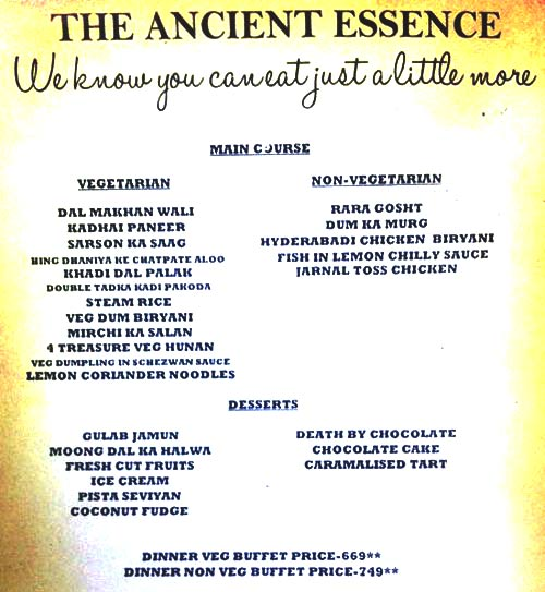 The Ancient Barbeque menu 1