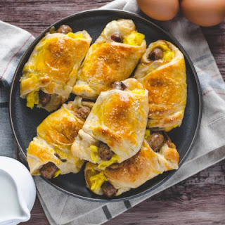 Sausage, Egg, and Cheese Crescent Rolls.