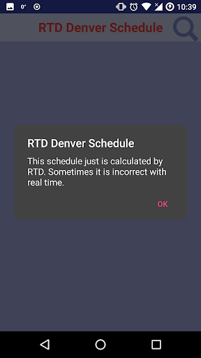 (APK) تحميل لالروبوت / PC RTD Denver Schedule تطبيقات screenshot