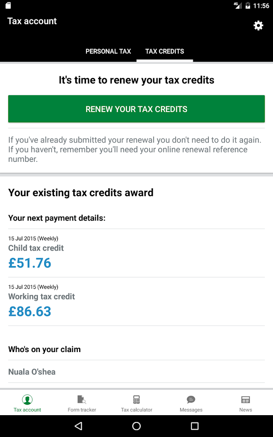 HMRC- screenshot
