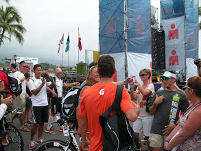Photo: 3 time World Champ and world record holder Chissie Wellington draws quite a crowd! a few seconds ago · Like