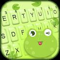 Cute Frog Tongue Keyboard Theme icon