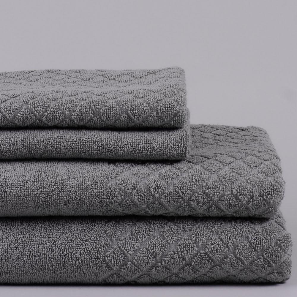 Modesty handduk grå - stilfullt mönstrad