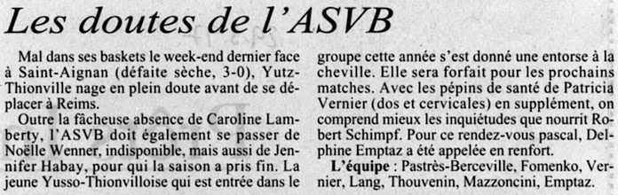 Photo: 29-03-97 N2F l'infirmerie affiche complet