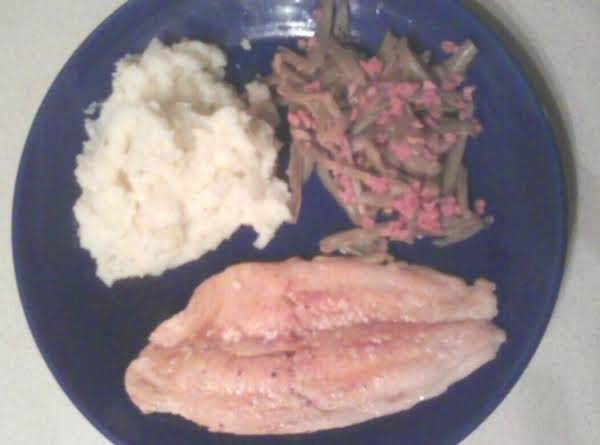 The Recipy W/o The Rice, But Butter Herb Potatoes And Green Beans