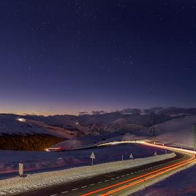 Port d´en Valira,  Andorra by Martín Silva Cosentino - Landscapes Sunsets & Sunrises ( lights, mountain, snow, long exposure, night )