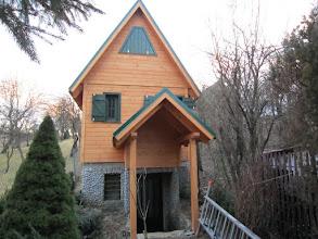 Photo: chata podľa vlastného navrhu.