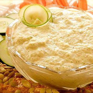 Zucchini Cucumber Hummus.