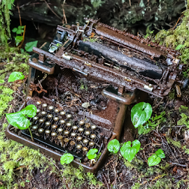 by Keith Sutherland - Artistic Objects Technology Objects ( office equipment, canada, vintage building, british columbia, decay, technology, typewriter )