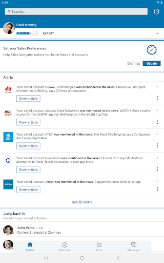LinkedIn Sales Navigator 6.8.7 screenshots 5