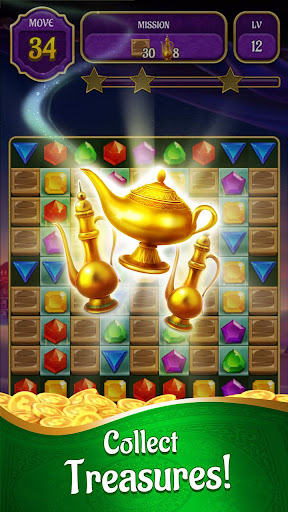 Genies & Gold - Match 3 Jewel & Gem Adventure 1.2.4 screenshots 1