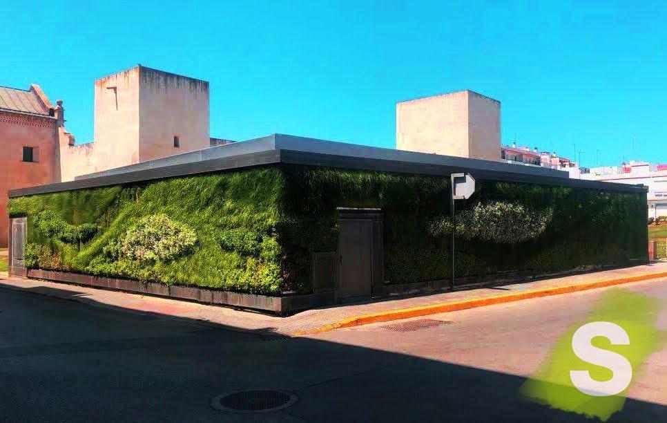 Jardín vertical en San Fernando de Cádiz