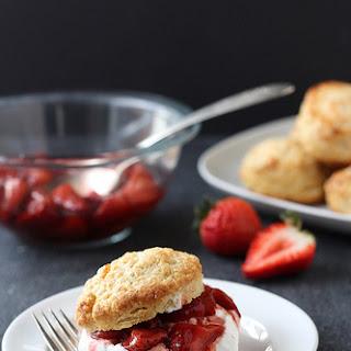 Roasted Balsamic Strawberry Shortcakes