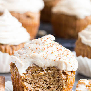 Pumpkin Cupcakes with Maple Cinnamon Frosting {Paleo, Dairy-Free}.