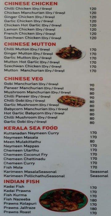 Naadan's Restaurant menu 4