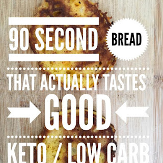 90 Second Bread that Actually Tastes GOOD {Keto / Low Carb}.