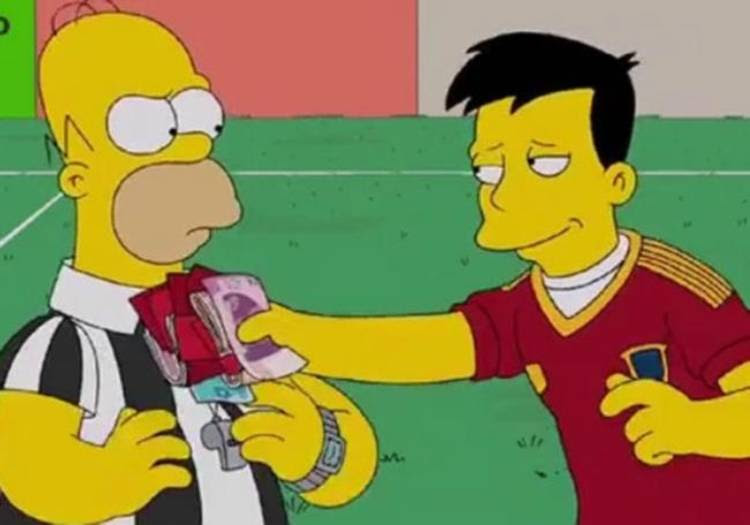Los Simpsons y la corrupción en la FIFA