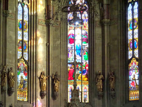 Photo: The stained glass windows were very nice.