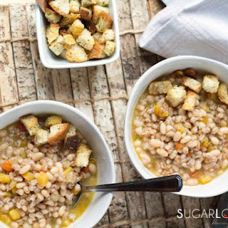 Farro and Bean Soup, Tuscan style.