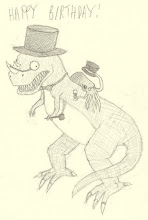 Photo: Charlie Raspin's Fancy cephalod and Upper-class dinosaur