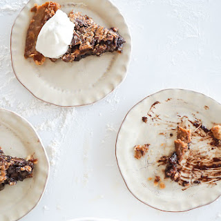 All Natural Chocolate Pecan Pie with Bourbon Whipped Cream
