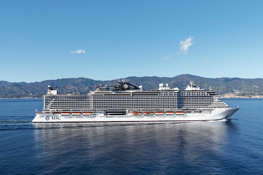 msc-seaside-at-sea2.jpg - MSC Seaside offers mostly 7-night Mediterranean cruises to such destinations as Rome, Marseille and Mallorca.
