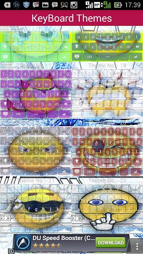 Emoticon keyboard theme