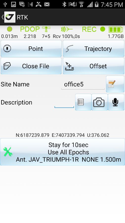 JAVAD Mobile Tools- screenshot