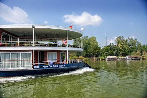 Avalon Siem glides down the Mekong River during an Avalon sailing.