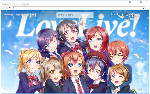 Love Live Anime Backgrounds Hd Custom New Tab