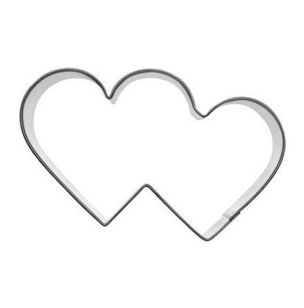 Kakform - Två hjärtan, 8,5 cm