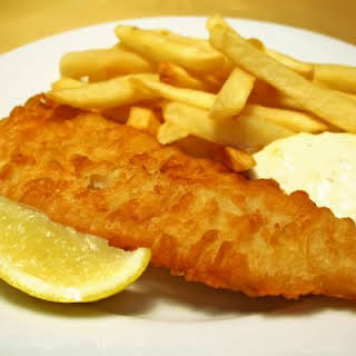 Crispy Baked Fish and Fries.