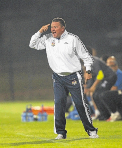 VOCAL       : SuperSport United coach Gavin Hunt