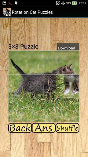 回転パズル - ネコ- 無料のシンプル絵合わせ